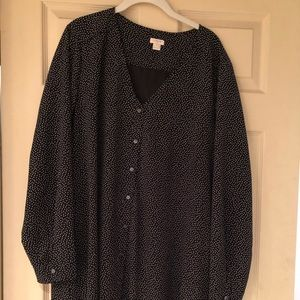 Black and white dot shirt dress.  J crew XL